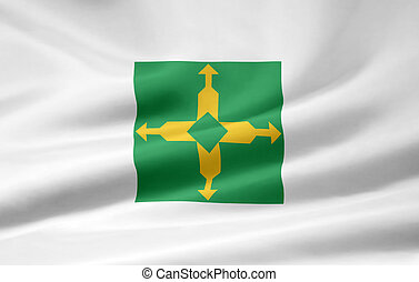 Flag of Distrito Federal - Brazil - Large flag of the...