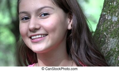 Pretty Smiling Teen Girl