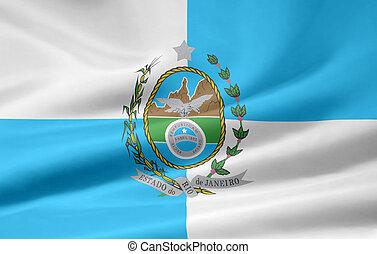 Flag of Rio de Janeiro - Brazil - Large flag of the...