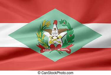 Flag of Santa Catarina - Brazil - Large flag of the...