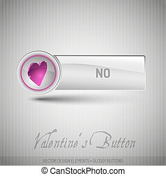 Vector button with pink heart. Modern design elements with...