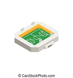 Soccer field isometric 3d icon