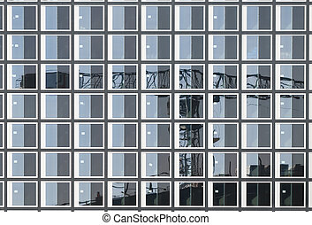 Construction Crane Reflection - An image of a construction...