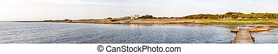 Torekov coastline from pier - A panoramic image of the...