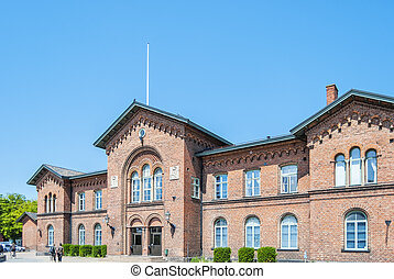 Ystad Train Station - Street scene from the Swedish town of...