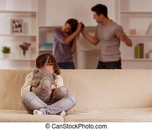 Quarrels upset child - hild suffering from quarrels between...
