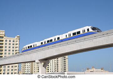 The Palm Jumeirah Monorail, Dubai United Arab Emirates