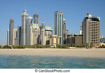 Highrise Buildings at Dubai Marina, United Arab Emirates
