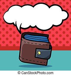 wallet color doodle