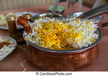 Chiken biryani - Chicken shish kebab and biryani bowls A...