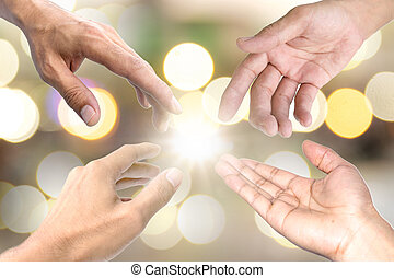 Helping hand symbol. - The symbol used to show each other a...