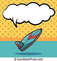 surf board color doodle