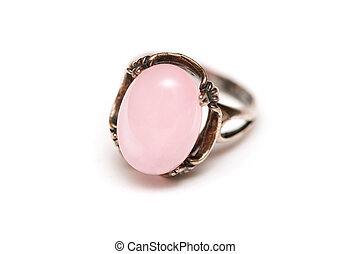 ring with a pink stone