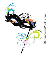 carnival mask - vector illustration of an elegant carnival...