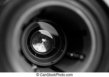 lente, foto, objetivo