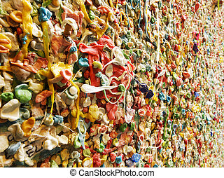 Post Alley Chewing Gum Details - A detail view of a portion...