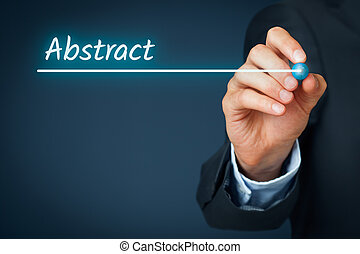 Abstract heading - background template for business...