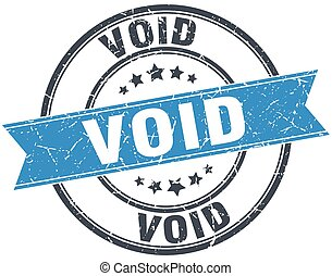 void blue round grunge vintage ribbon stamp