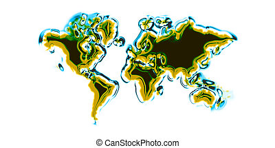 world map isolated on the white background