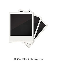 Photo frames on a white background