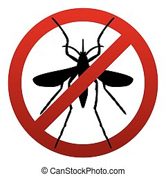 Anti Mosquito Sign Illustration - A symbol sign warning...