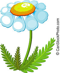 Chamomile over white EPS 8, AI, JPEG