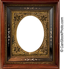 Vintage ornate wood frame