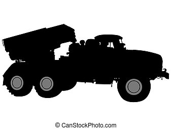 Shotgun - Armored car with gun on white background