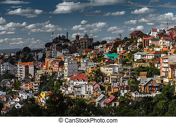 Madagascar - City of Antananarivo at sunny day Madagascar