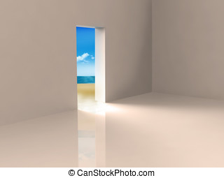 Beach View - Doorway leading out to an enticing beach