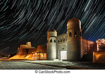 Khiva - Western gate (Ata Darvoza) to ancient town of Itchan...