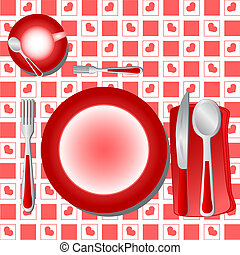 Dinner Table - Illustration Dinner Table