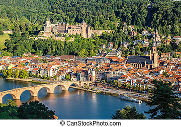 View on Heidelberg at summer, Germany