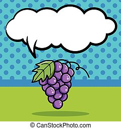 fruits grape doodle