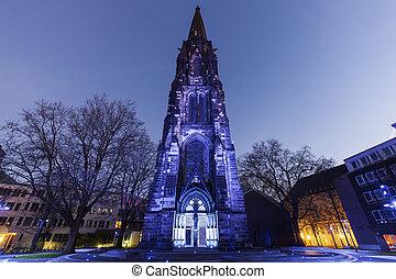 Christ Church in Bochum Bochum, North Rhine-Westphalia,...