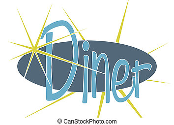 Diner - A retro style Diner sign