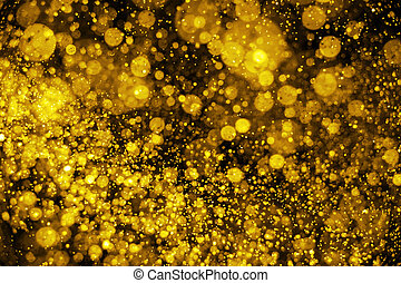 Golden Christmas Glitter Lights Defocused Background
