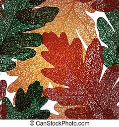 Oak leaf seamless pattern, vector EPS 10 - Seamless pattern...