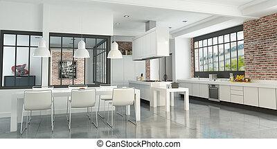 Artist loft kitchen
