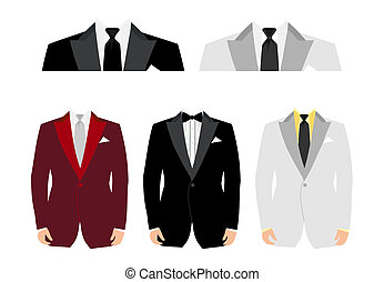Suits for an insert of the person. A vector illustration