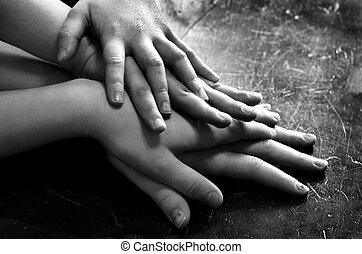 Hands on Top of Each Other Family Group
