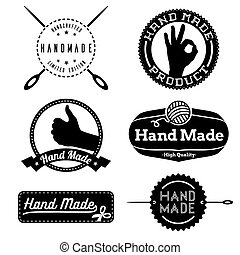 Hand Made logo design insignias