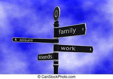 Work Life Balance - Sign depicting work/life balance