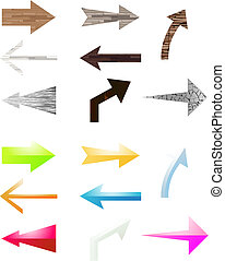 Preparation for the Internet as arrows. A vector illustration