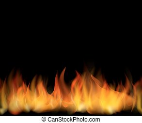 Fire. Seamless background - Fire. Seamless realistic vector...