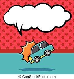 car accident doodle