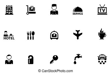 hotel concept icons