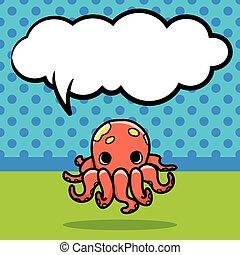sea animal octopus doodle