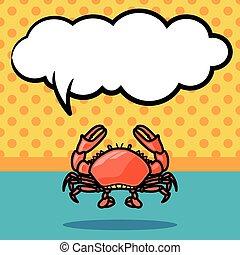sea animal crab doodle