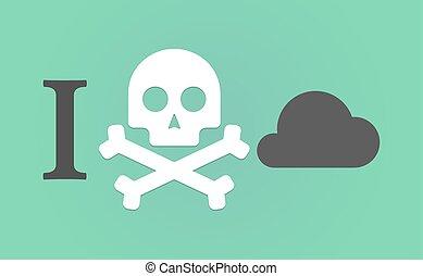 """""""I don't like"""" hieroglyph with a cloud"""